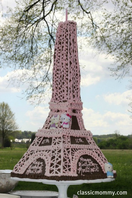 Hello Kitty Eiffel Tower Cake