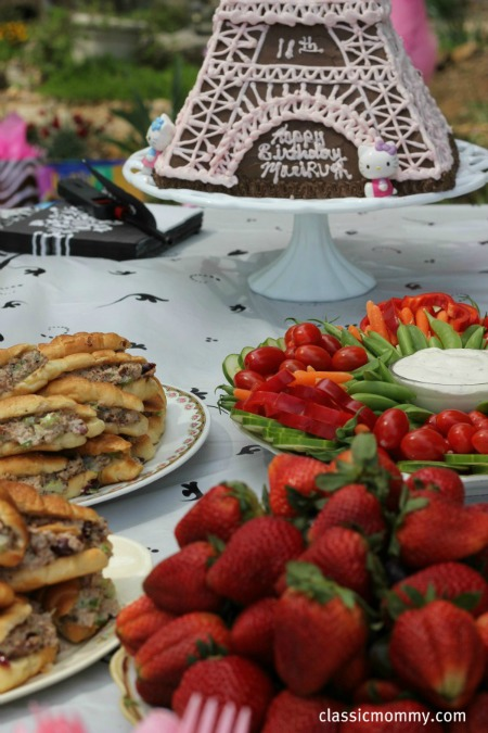 Parisian Birthday Party Food