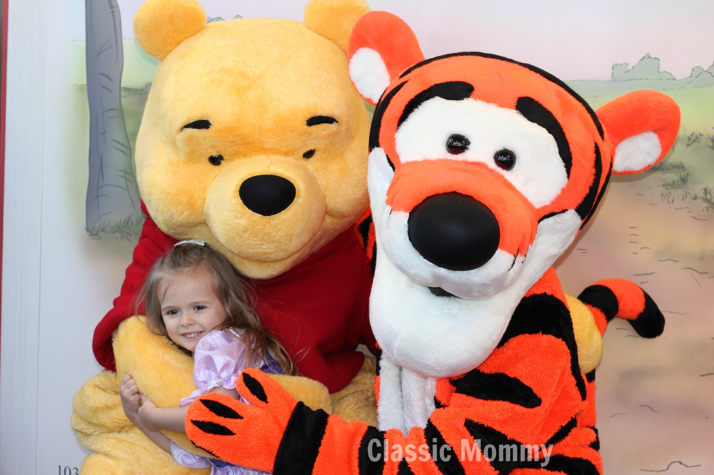Disney Character Interaction With Pooh Tigger