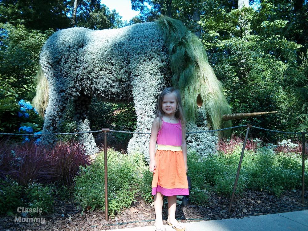 Atlanta Botanical Garden Imaginary Worlds Unicorn