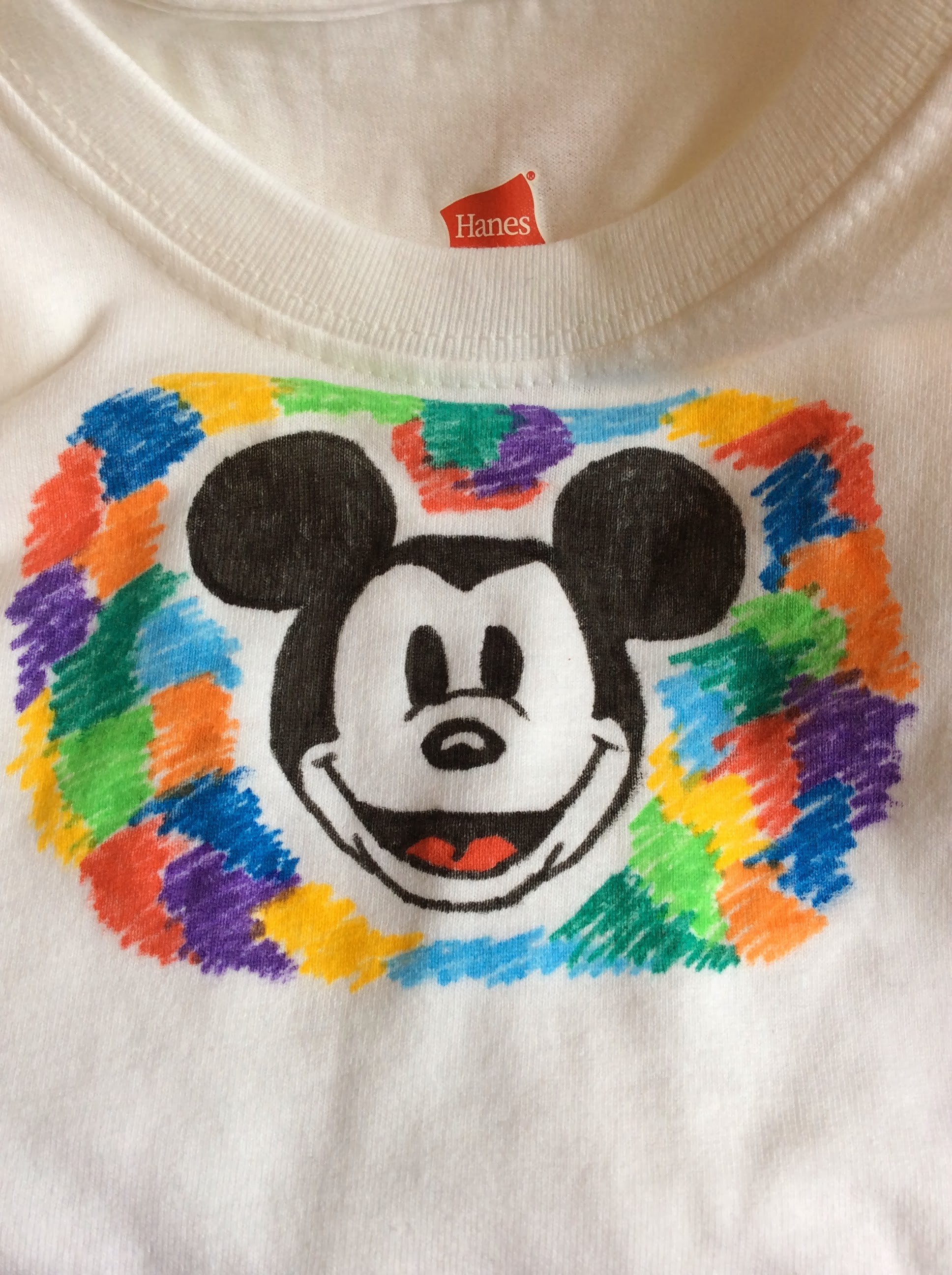 Hanes DisneySide shirt DIY
