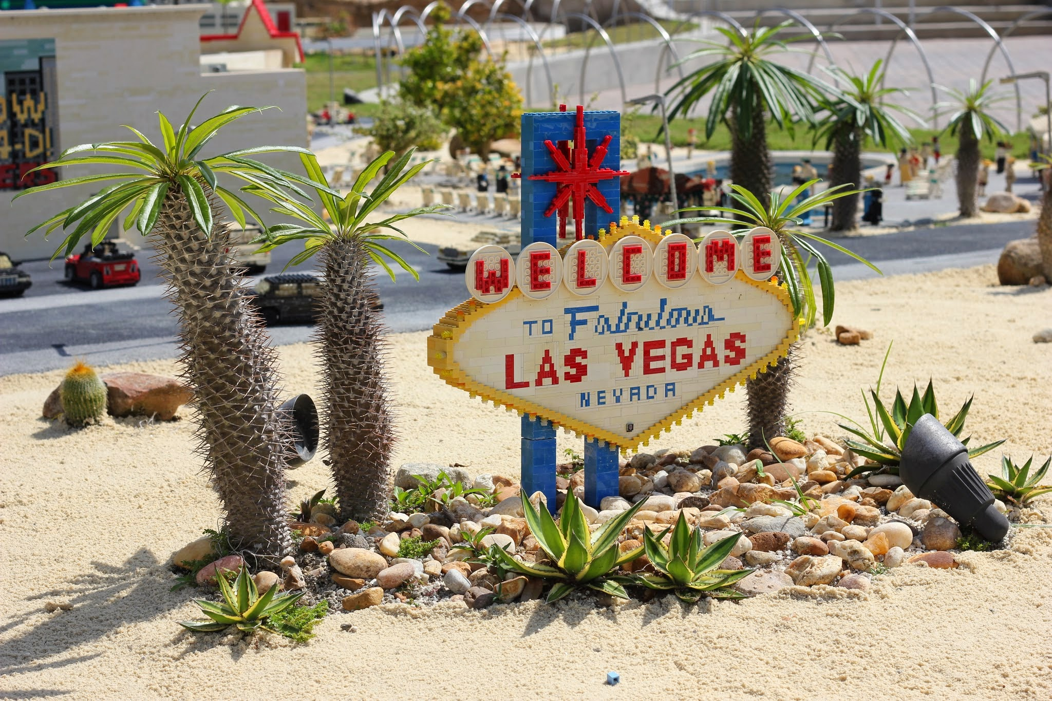 Las Vegas Welcome Sign - LEGOLAND #familytravel