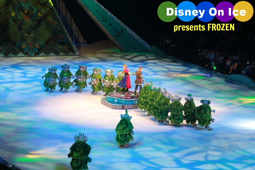 Disney On Ice presents FROZEN in Atlanta! Anna, Kristoff, and Trolls. Image by Atlanta Mom Blogger : Classic Mommy.