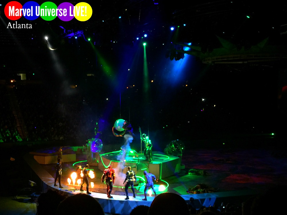 Marvel Universe LIVE! in Atlanta. Review by Atlanta mom blogger: Classic Mommy.