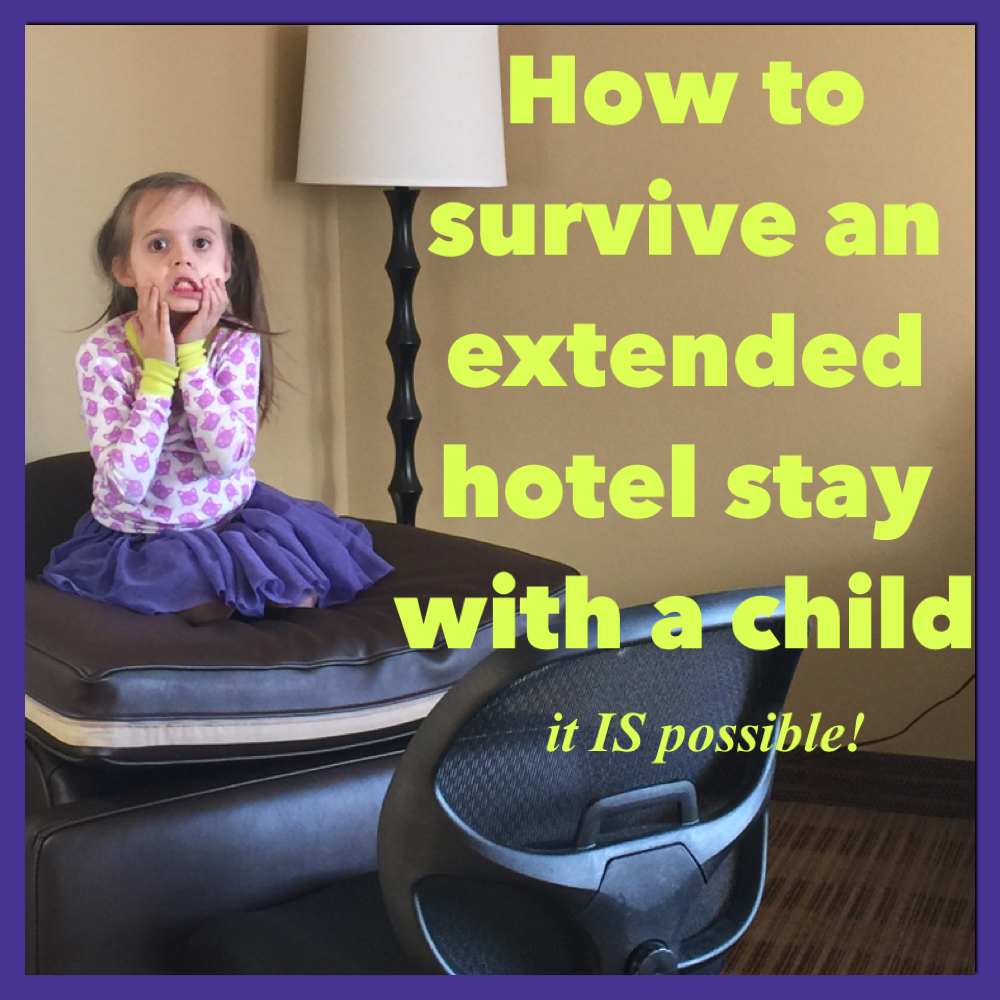 Tips for enjoying an extended hotel stay with a child - it's possible! Classic Mommy | Family Travel