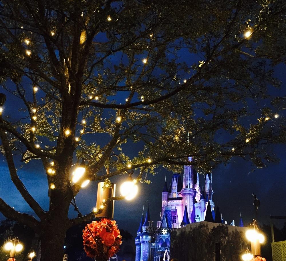 Mickey's Not-So-Scary Halloween Party 2015: Hocus Pocus Villain Spectacular Stage. Captured by Atlanta Mom Blogger - Classic Mommy