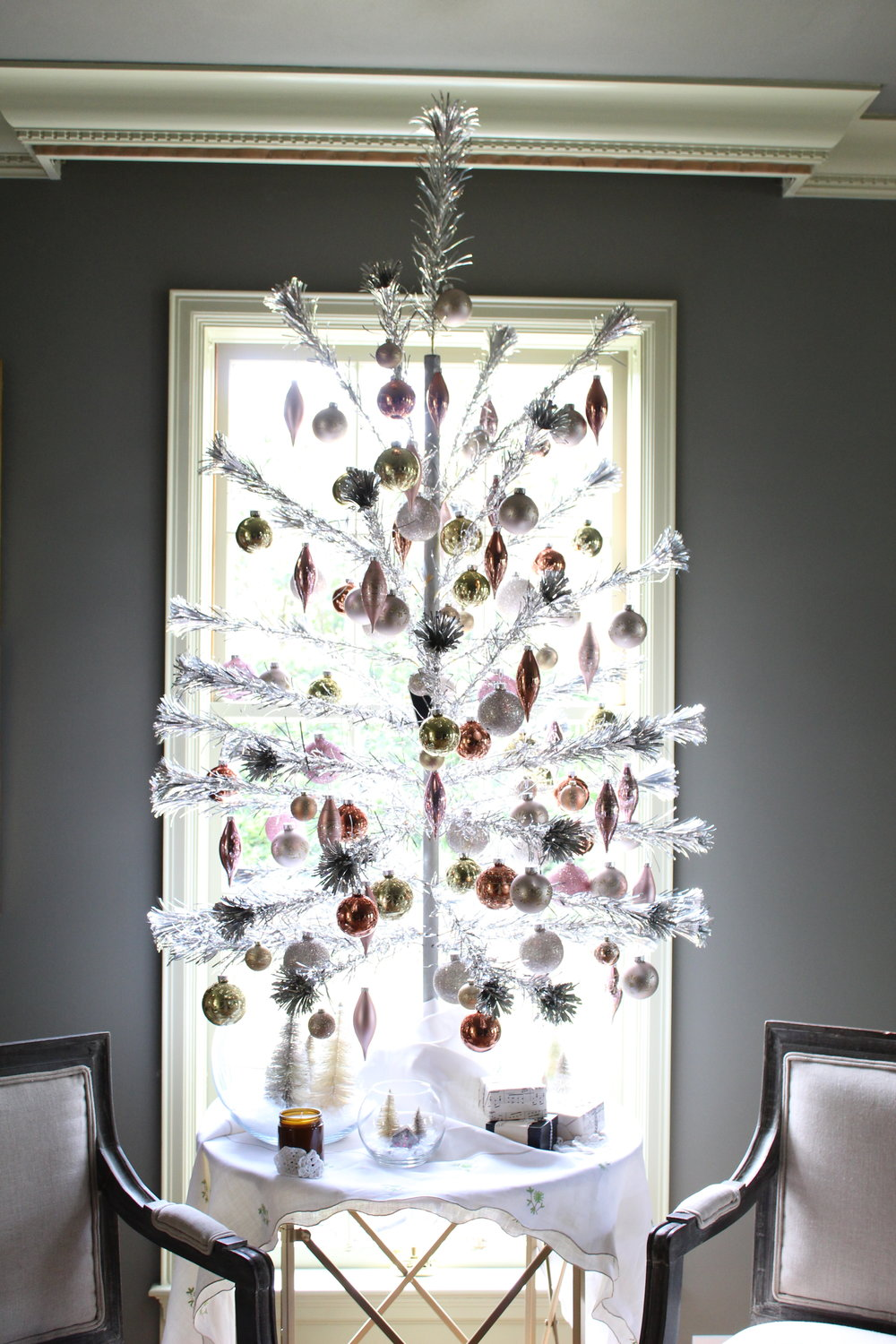 Shiny and Bright - Pom Pom Tinsel Christmas Tree