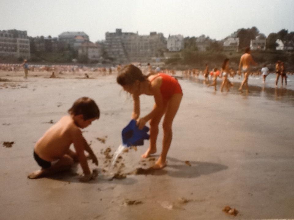 Making sandcastles in Dinard