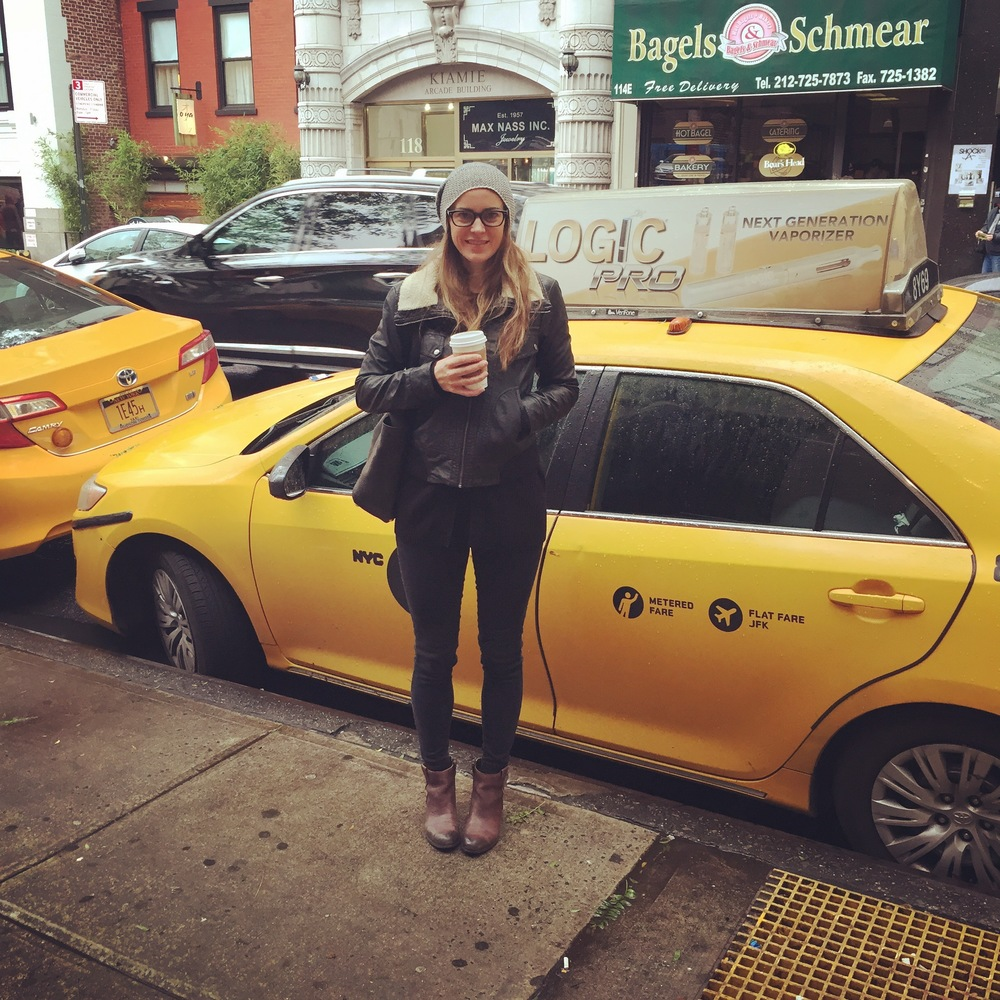 Taxi cab yellow, always a good inspiration. Mixed with some good NYC grit.