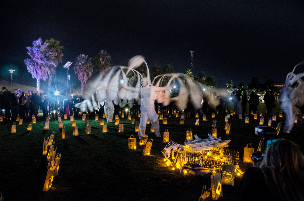 Gathering of the City Ceremony, M~M2014 Photo by Brien Cohn