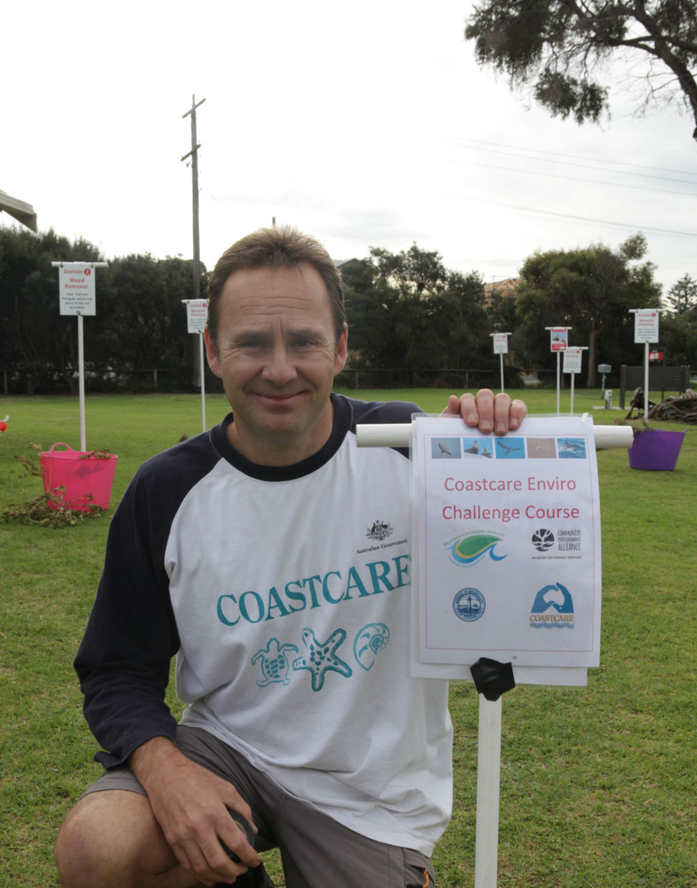 Matt Crawley at Point Lonsdale Primary Caring For Our Bays Day