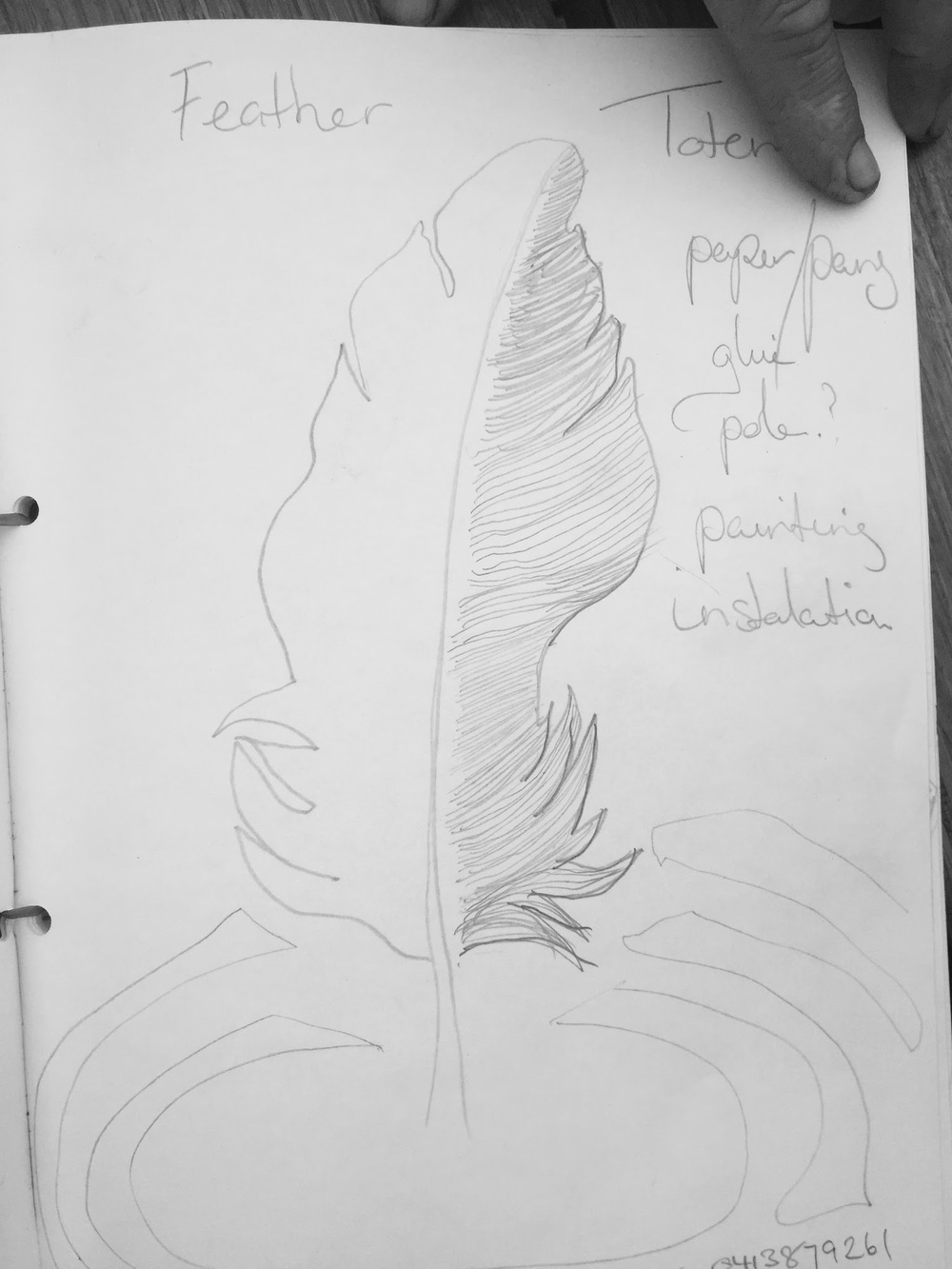 Preliminary drawing - Michele Fifer Spooner