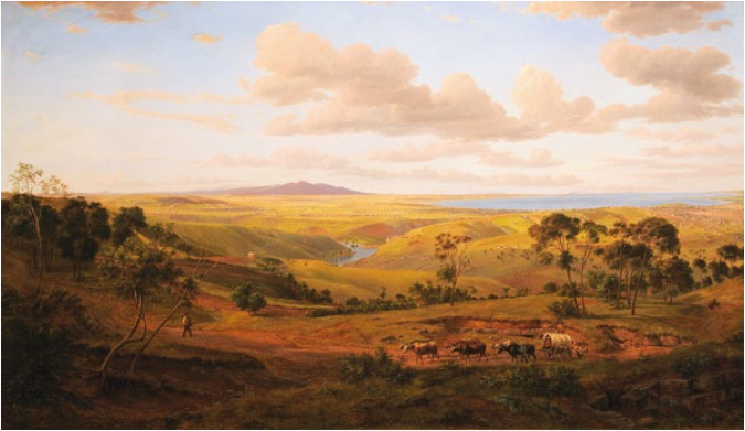 Eugene von Guérard's painting  View of Geelong , 1856