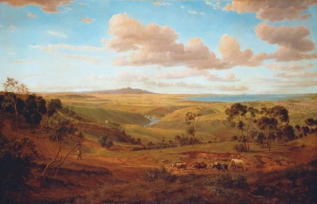View of Geelong,  1856, by Eugene von Guerard