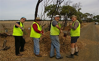 Volunteers from the Friends of the Bellarine Rail Trail in action.