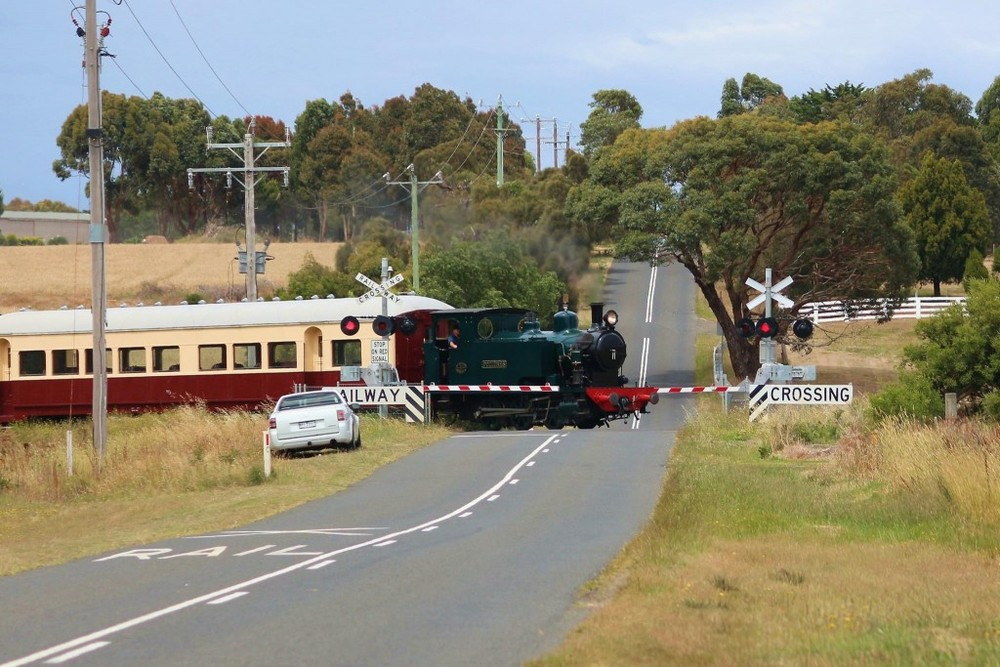 "Bellarine Railway ""Pozieres"" at Banks Road."