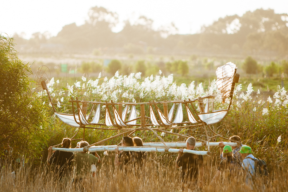 Canoe journeys through the wetlands.  Image by Dean Walters Photography