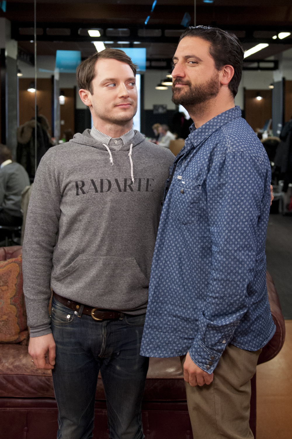 Elijah Wood and Eugenio Mira