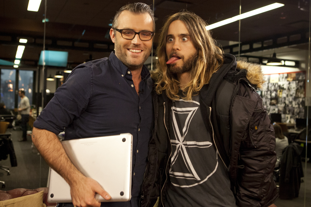 Ricky Camilleri and Jared Leto
