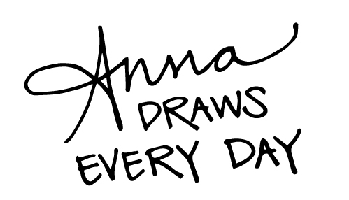 Every day, Anna draws.