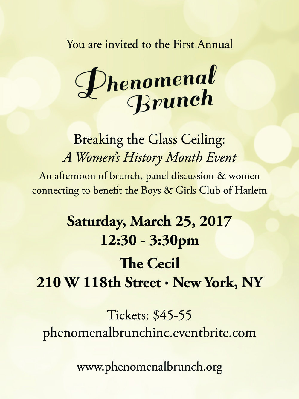 The First Annual Phenomenal Brunch invitation.