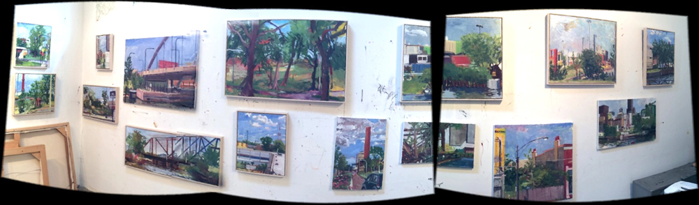 Chicago Landscapes in my studio