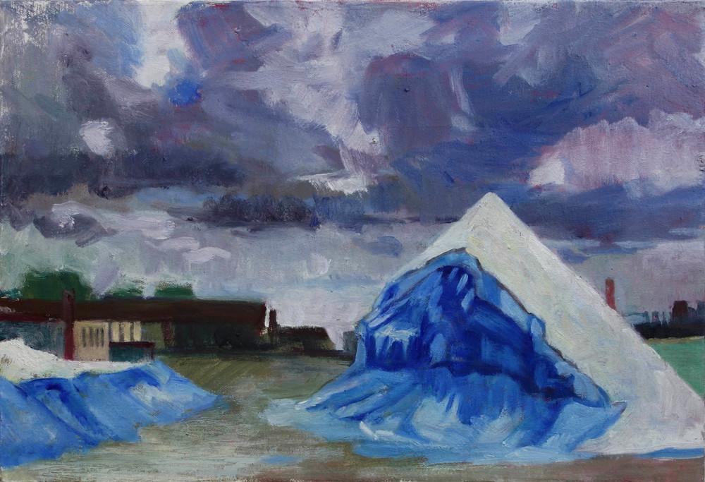 Salt Pile with Storm