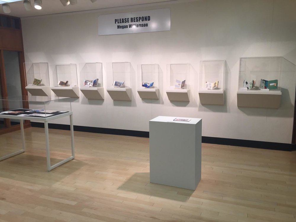 Please Respond Books exhibit at Ohio Wesleyan University (2017)