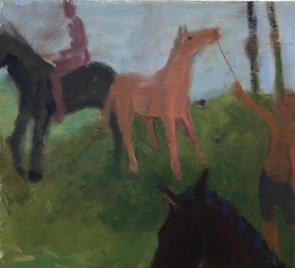 2 Figures, 3 Horses