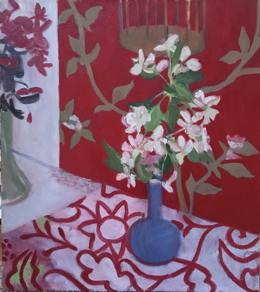 Wallpaper with Flowers (and flowers), 2017