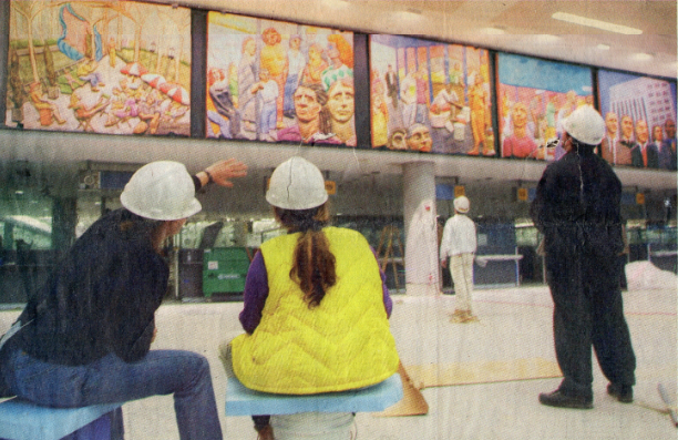 Megan Williamson, Consultant, JFK Airport public art installation, New York Times, 2001