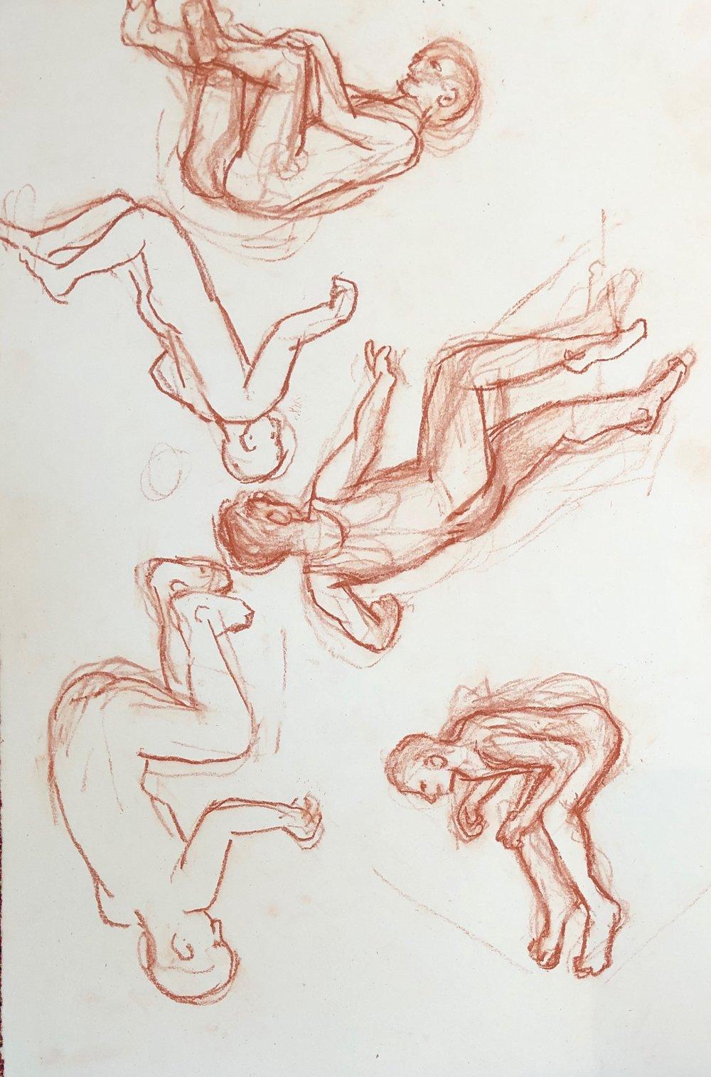 Studies for Backflip