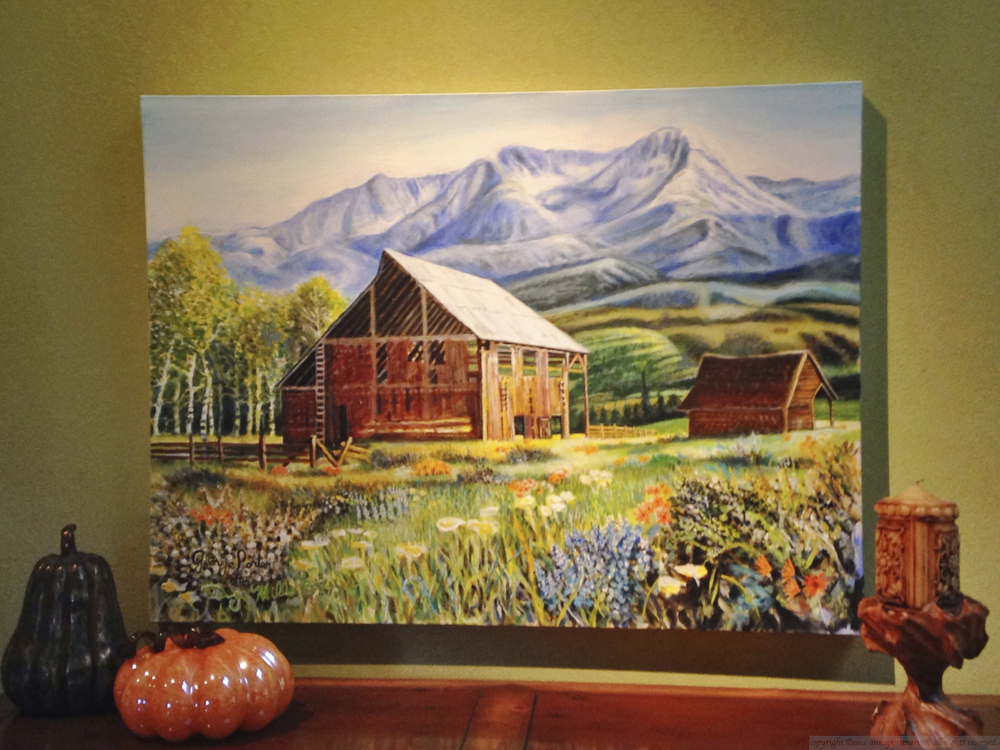 Barn in the Mountains after Doug Miller installed