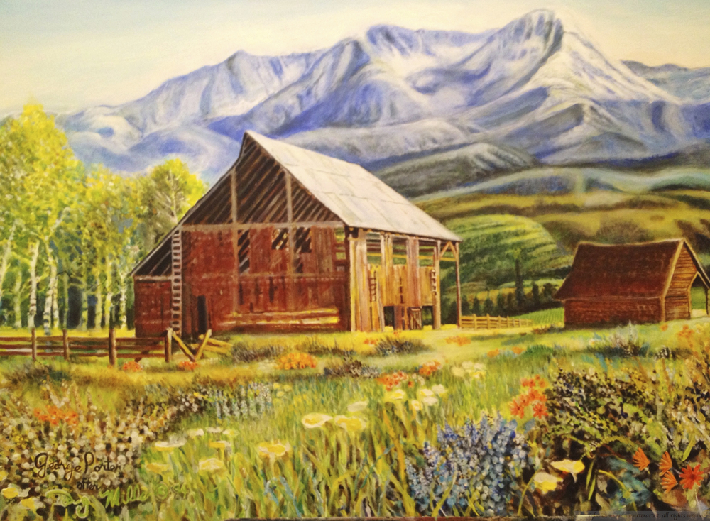 Barn in the Mountains after Doug Miller