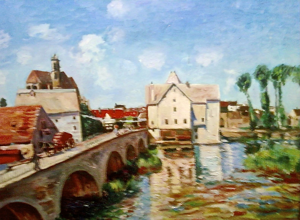 The Bridge at Moret by George Porter after Alfred Sisley
