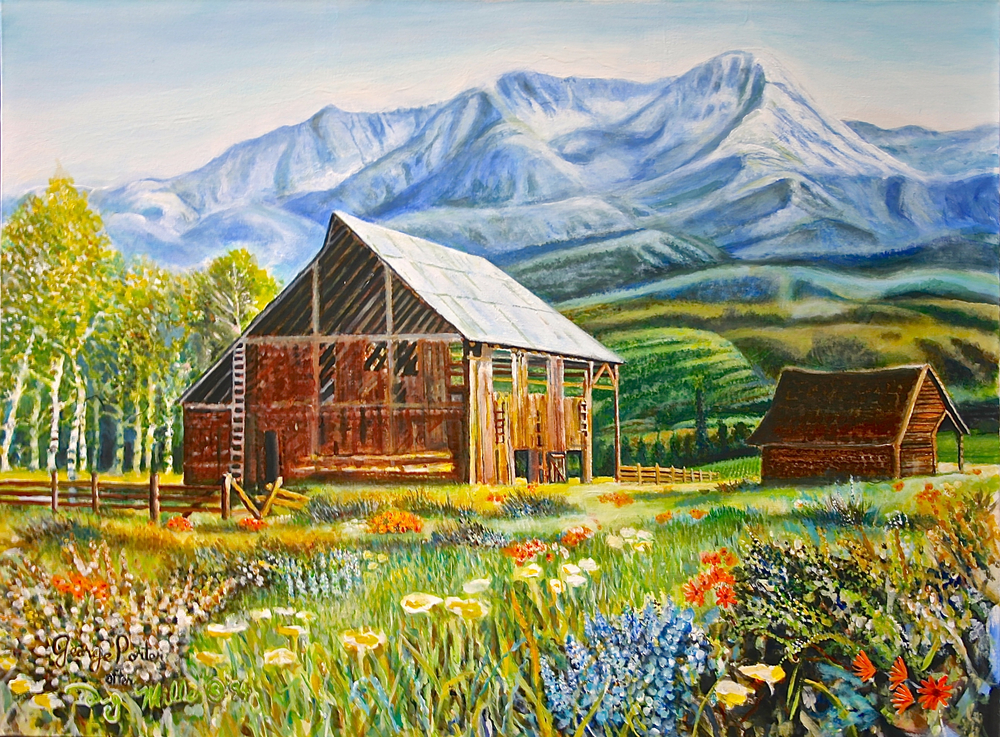 Barn in the Mountains by George Porter after Doug Miller