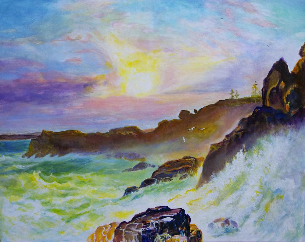 Coast Scene Mount Desert by George Porter after FE Church