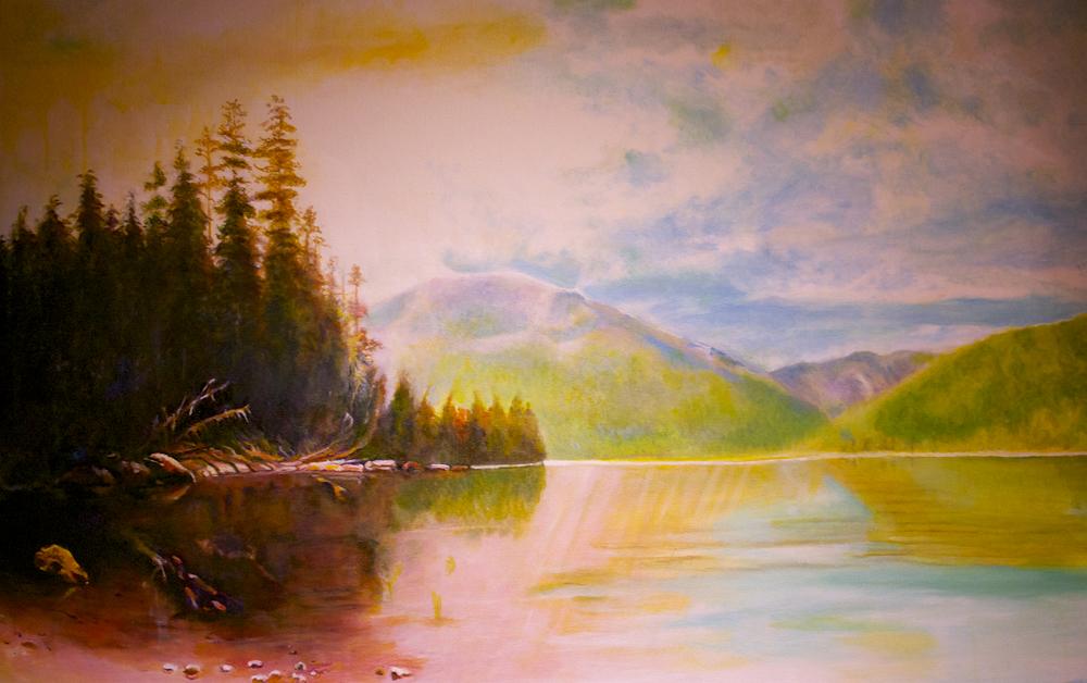 saranac lake, morning, study by George Porter