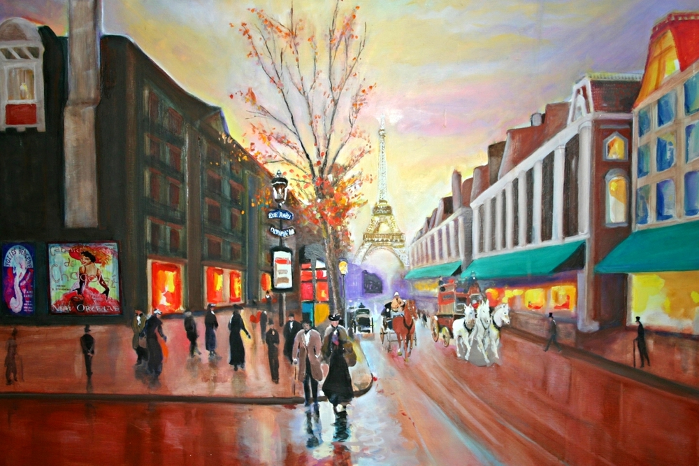 Paris Street Scene by George Porter