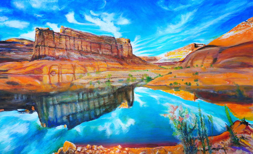 Grand Canyon-Lake Powell Reflections by George Porter