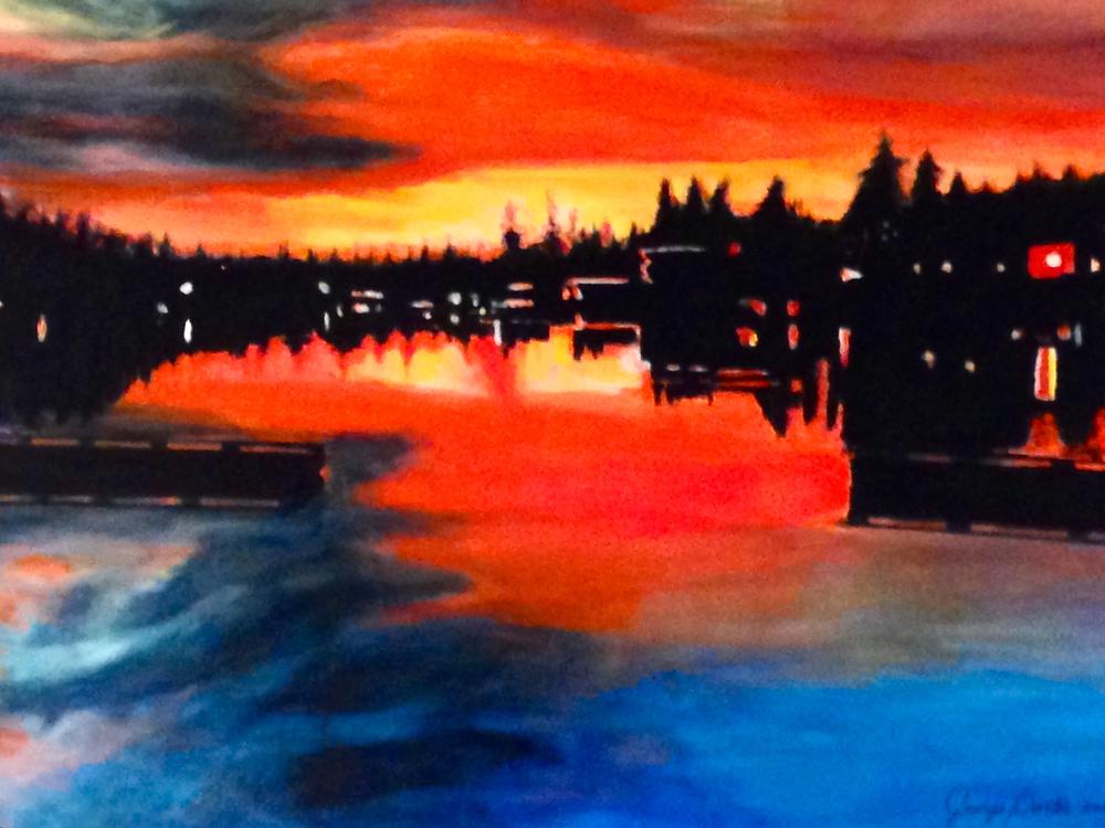 Lake Oswego Sunset by George Porter