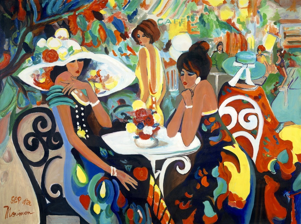 parisienne cafe study by George Porter after Maimon