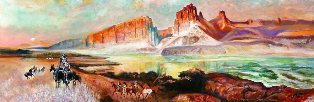 Green River Cliffs of Wyoming after Thomas Moran