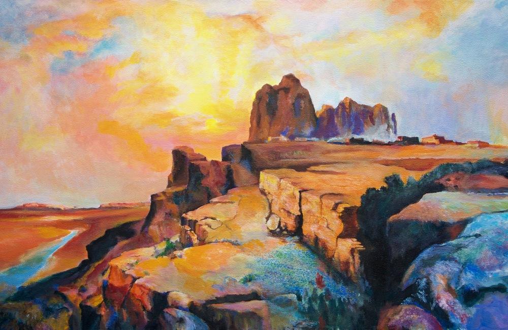 Hopi Village-Arizona by George Porter after Thomas Moran