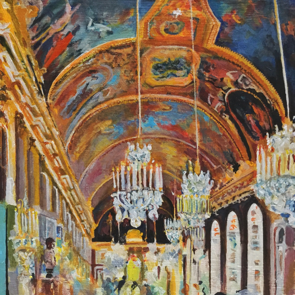 Versailles Ceiling, acrylic by George Porter
