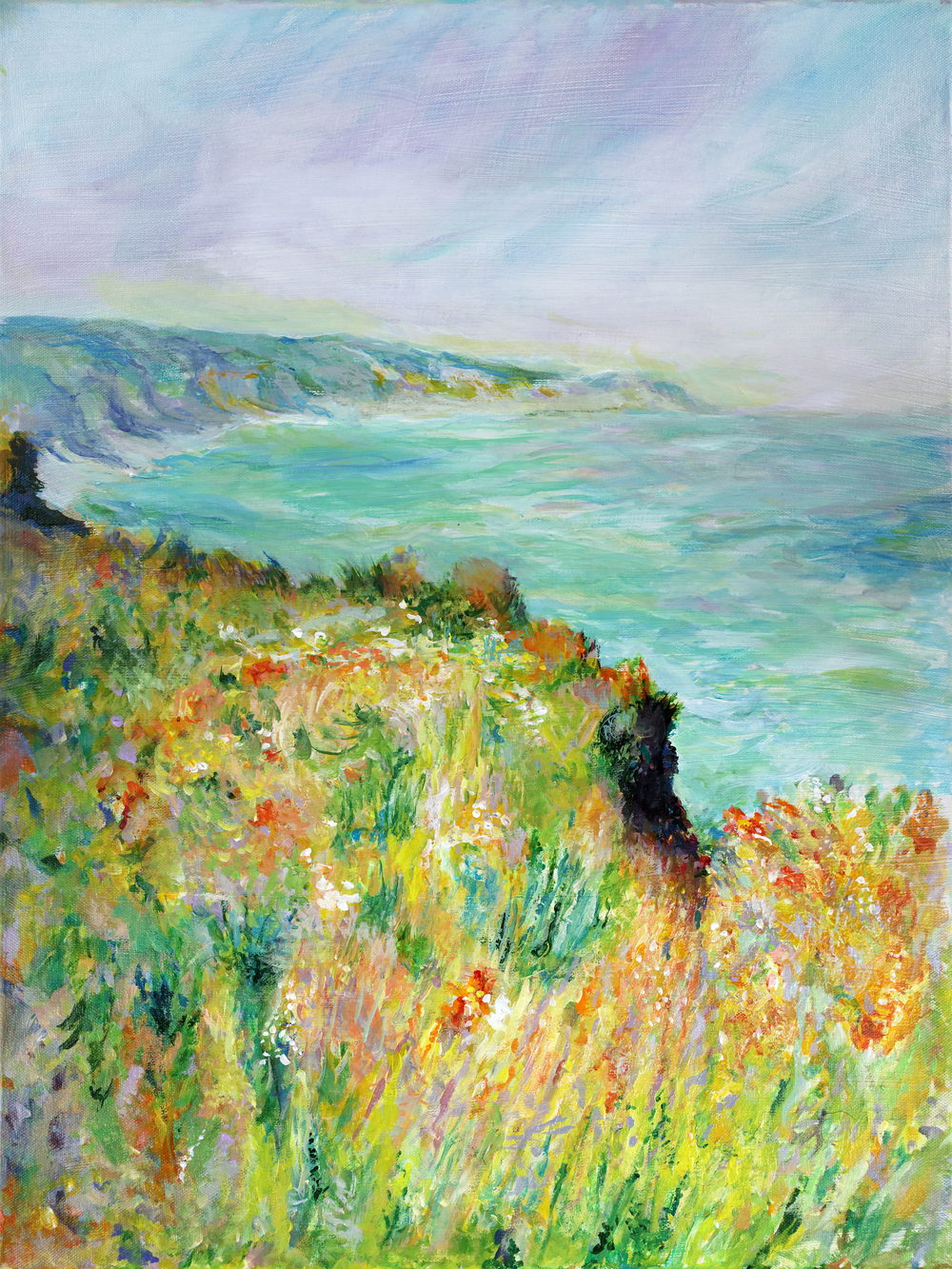 Cliff Near Pourville after Claude Monet by George Porter