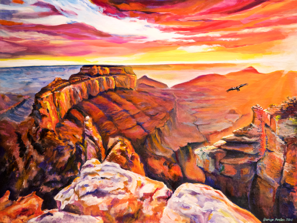 Canyon Lights by George Porter on display in the OSA Spring Juried Show