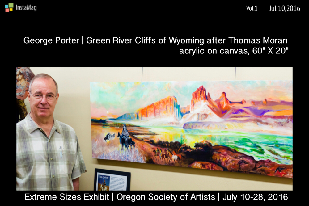 George Porter and Green River Cliffs of Wyoming after Thomas Moran