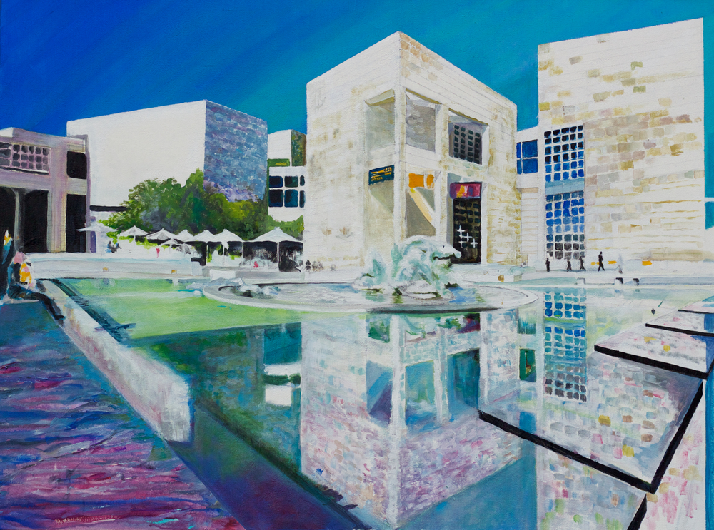 Getty, acrylic on canvas by George Porter