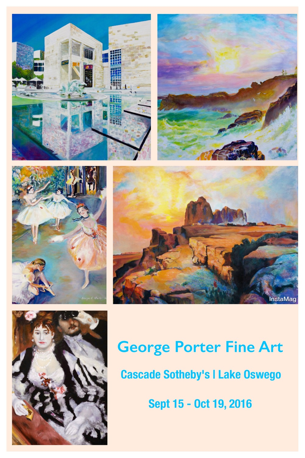 George Porter Fine Art at Cascade Sotheby's in Lake Oswego Sept 15 - Oct 19, 2016
